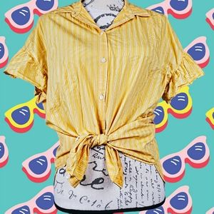 Madewell Tops - Madewell sunny yellow striped button up